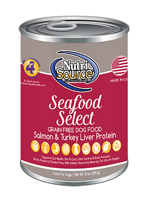 seafood select grain free canned dog food nutrisource pet foods