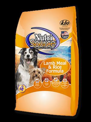 Lamb Meal Rice Formula Dog Food Nutrisource Pet Foods